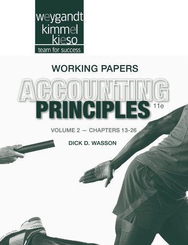 9781118342244: Working Papers Volume II to Accompany Accounting Principles, 11th Edition: 2