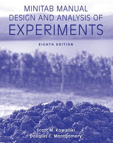 9781118342275: Minitab Manual Design and Analysis of Experiments