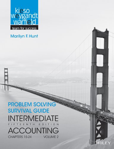 9781118344156: Problem Solving Survival Guide to accompany Intermediate Accounting, Volume 2: Chapters 15 - 24