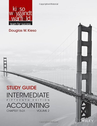 9781118344187: Study Guide to accompany Intermediate Accounting, Volume 2: Chapters 15 - 24