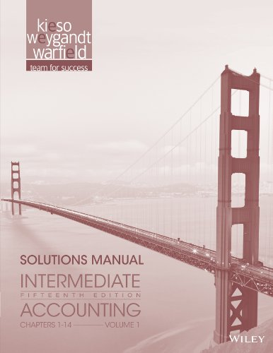 9781118344194: Intermediate Accounting, Solutions ManualVol.1 , 15th Edition