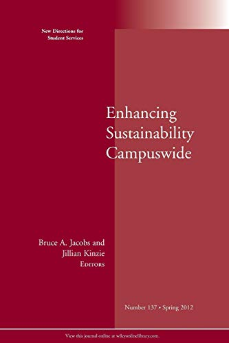 9781118345801: Enhancing Sustainability Campuswide: New Directions for Student Services, Number 137