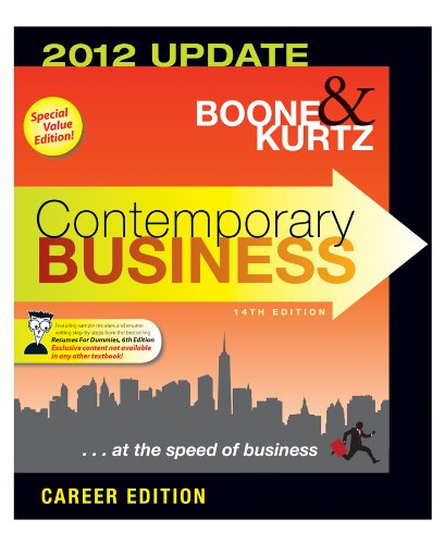 9781118347812: Contemporary Business 2012 Updated Career Edition