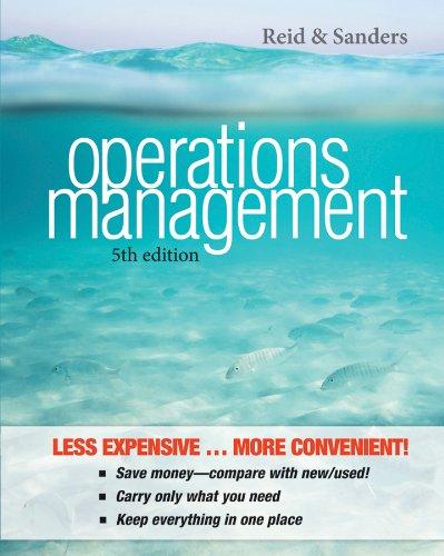 Operations Management: Reid, R. Dan;