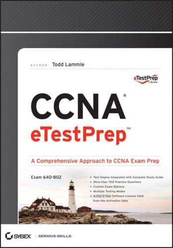 9781118353844: CCNA Etestprep (640-802) Downloadable Version