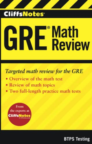 CliffsNotes GRE Math Review: BTPS Testing