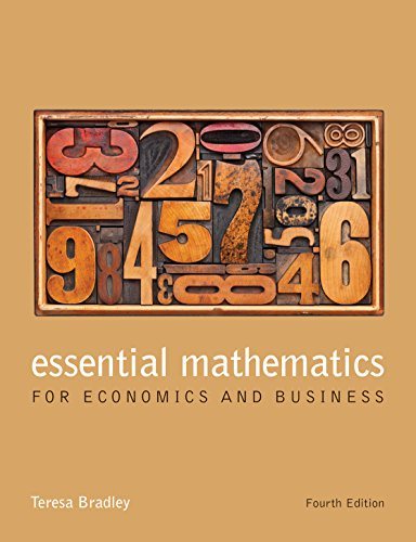 9781118358290: Essential Mathematics for Economics and Business