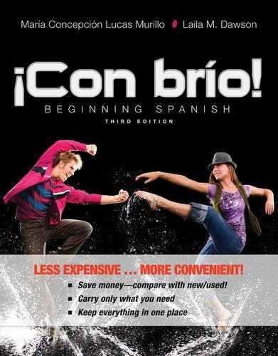 9781118359273: ¡Con brío!: Beginning Spanish (Spanish Edition)
