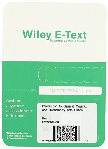 9781118360538: Introduction to General, Organic, and Biochemistry