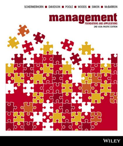 9781118362532: Management: Foundations and Applications, 2nd Asia Pacific Edition