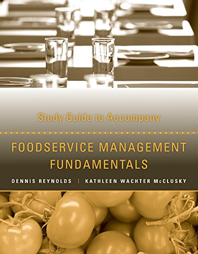 9781118363348: Study Guide to Accompany Foodservice Management Fundamentals
