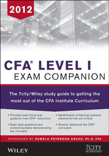 9781118366059: CFA Level I Exam Companion: The 7city / Wiley Study Guide to Getting the Most Out of the CFA Institute Curriculum