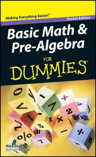 9781118368336: Basic Math & Pre-Algebra for Dummies