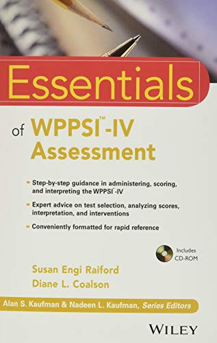9781118380628: Essentials of WPPSI-IV Assessment (Essentials of Psychological Assessment)