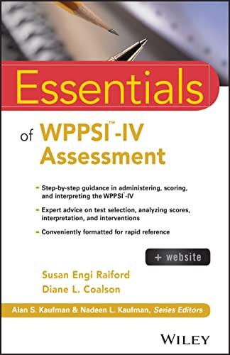 9781118380628: Essentials of WPPSI -IV Assessment