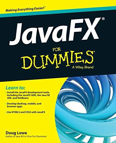 9781118385340: JavaFX For Dummies