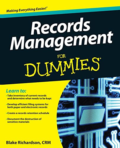 9781118388082: Records Management For Dummies
