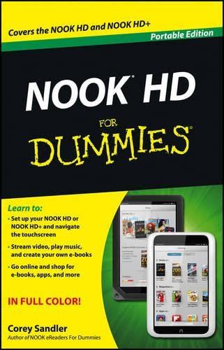Nook HD for Dummies, Portable Edition: Sandler, Corey