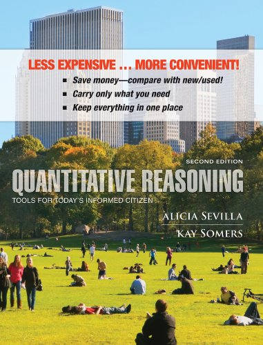 9781118406830: Quantitative Reasoning, Binder Ready Version: Tools for Today's Informed Citizen