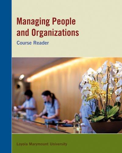 9781118406885: Managing People and Organizations (Loyola Marymount University)
