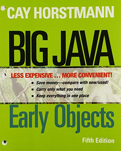 Big Java, Binder Ready Version: Early Objects: Horstmann, Cay S.