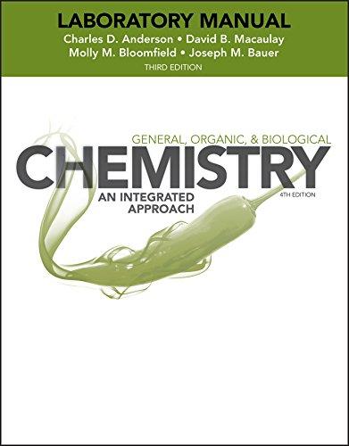 Laboratory Experiments to Accompany General, Organic and: Charles Anderson; David