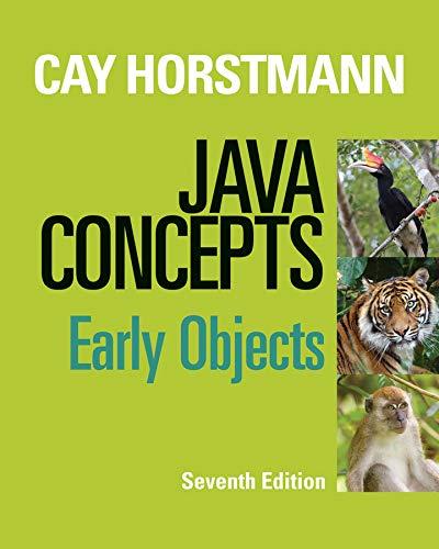 Java Concepts: Cay S. Horstmann