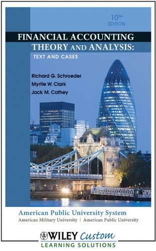 Financial Accounting Theory and Analysis: Text and Cases: Richard G. Schroeder, Myrtle W. Clark, ...