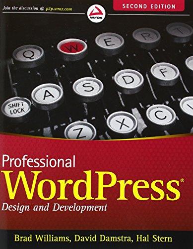 9781118442272: Professional WordPress: Design and Development