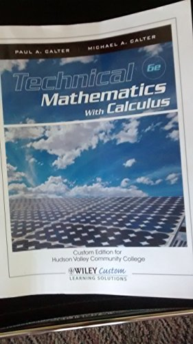 9781118452912: Technical Mathematics With Calculus 6e