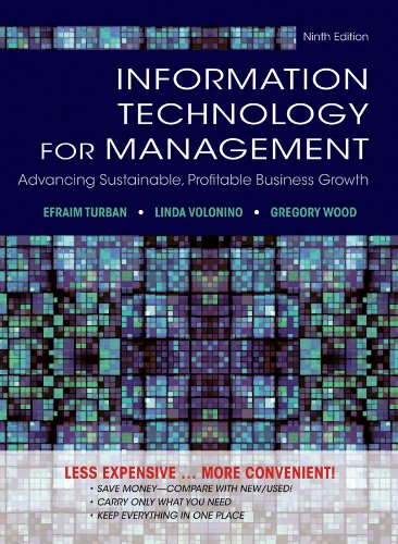 9781118453247: Information Technology for Management: Advancing Sustainable, Profitable Business Growth