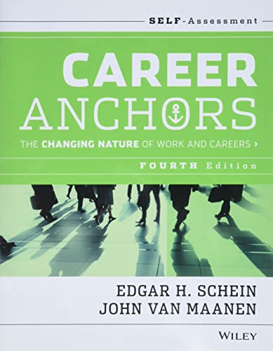 9781118455760: Career Anchors: The Changing Nature of Work and Careers Self-Assessment: The Changing Nature of Careers Self Assessment