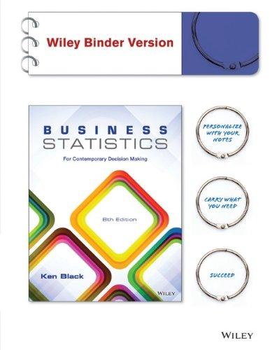Business Statistics, Binder Ready Version: For Contemporary: Black, Ken