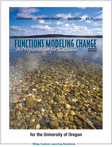 9781118502655: Functions Modeling Change: A Preparation for Calculus, 4th Editions