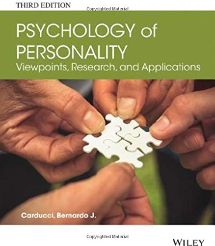 Psychology of Personality: Viewpoints, Research, and Applications: Carducci, Bernardo J.