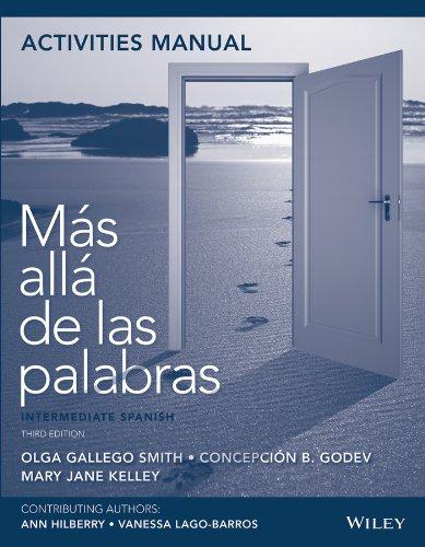 9781118512357: Activities Manual to accompany Mas alla de las palabras: Intermediate Spanish, 3e with lab audio registration card