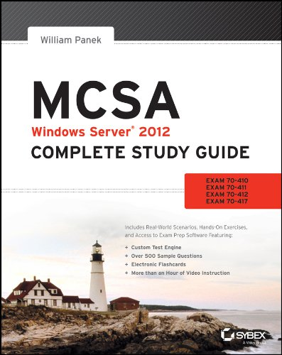 9781118544075: Mcsa: Windows Server 2012 Complete Study Guide (Exams 70-410, 70-411, 70-412, and 70-417)