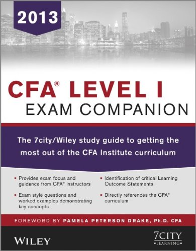 9781118560341: CFA Level I Exam Companion: The 7city / Wiley Study Guide to Getting the Most Out of the CFA Institute Curriculum