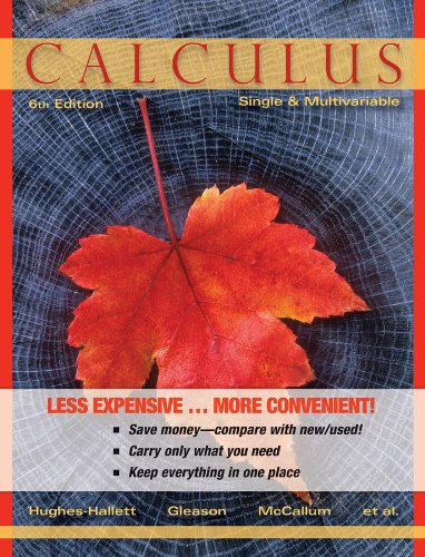 Calculus: Single and Multivariable 6e Binder Ready