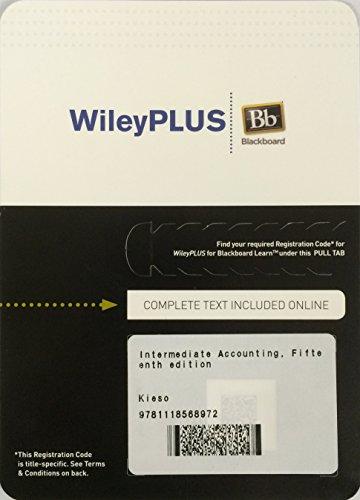 9781118568972: WileyPlus Blackboard Access Card to Accompany Intermediate Accounting, 15E