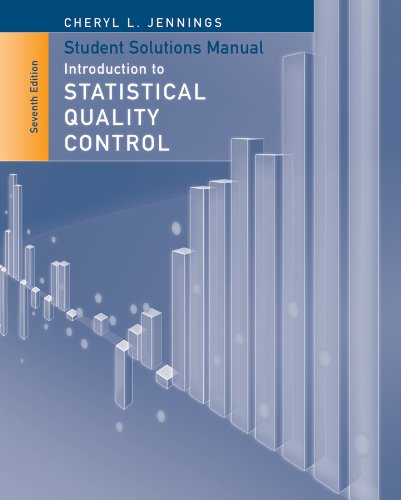 9781118573594: Student Solutions Manual to accompany Introduction to Statistical Quality Control