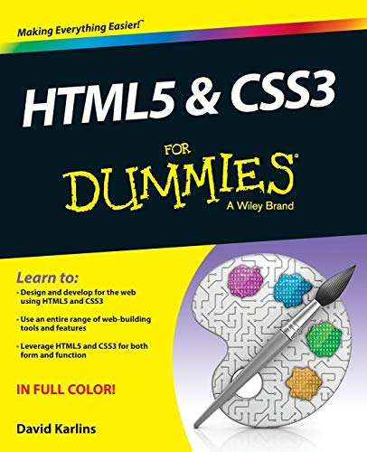 HTML5 and CSS3 for Dummies: Karlins, David