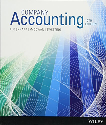 Company Accounting 10e(O): Ken J. Leo;
