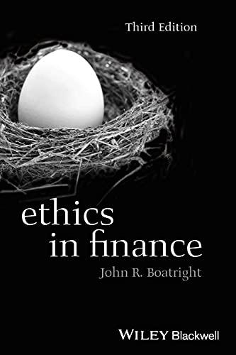 Ethics in Finance (Paperback): John R. Boatright