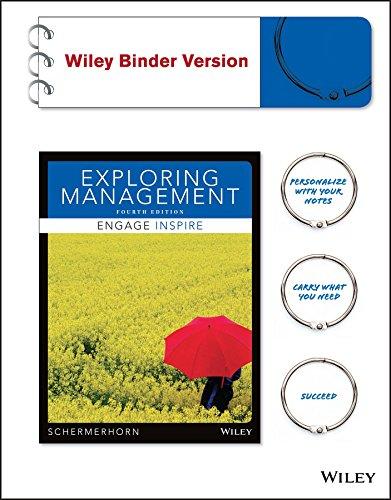 9781118620199: Exploring Management, Binder Ready Version