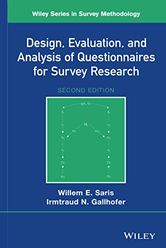 9781118634615: Design, Evaluation, and Analysis of Questionnaires for Survey Research (Wiley Series in Survey Methodology)