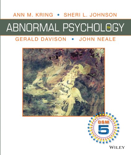 Abnormal Psychology, Binder Ready Version: DSM-5 Update: Kring, Ann M.;