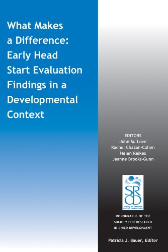 What Makes a Difference: Early Head Start Evaluation Findings in a Developmental Context (1118658841) by John Love; Rachel Chazan-Cohen; Helen Raikes; Jeanne Brooks-Gunn