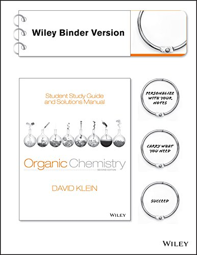 9781118700815: Student Study Guide and Solutions Manual to Accompany Organic Chemistry 2e Binder Ready Version