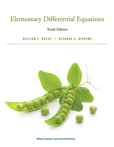 9781118702178: Elementary Differential Equations Tenth Edition Paperback